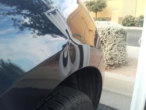 Murano Fender This was a simple dent on a body line and it took about an hour to repair. & Tucson Paintless Dent Removal u0026 Repairs | Like New Mobile Dent Repair pezcame.com